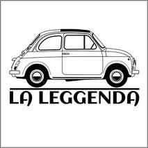 Maglietta personalizzata con stampa Fiat 500 old style
