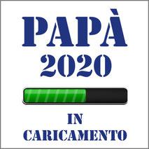 """Grafica per stampa su maglietta personalizzata """"Papà in Caricamento"""" per futuri papà."""