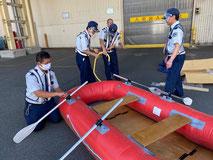 ボート組立訓練