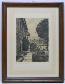 Alfred Holler, Radierung,Stolberg,Evangelische Kirche im Vogelsang, ca. 1920 , € 85,00