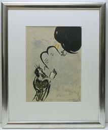 """Marc Chagall,""""Moses empfängt die Gesetzestafeln"""",Orig. Farblithographie,Mourlot , € 325,00"""