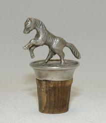 Alter Flaschen Korken, silver-plated, Pferd, Pony, 5,0 cm, 49,00