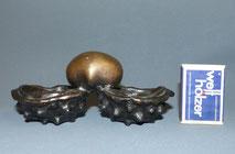 Antike Bronze Kastanie, Gewürzschälchen, Salière, Skulptur, Objekt, , € 165,00
