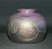 Mundgeblasene Vase, Eisch Glas, 85, Bayrischer Wald, Pinkfarben, € 115,00