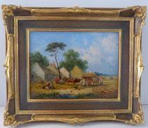William Shayer, 1811-1892, Öl auf Leinwand, bäuerliche Ernteszene, 1849,  € 1400,00