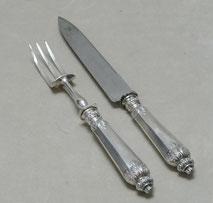 Tranchierbesteck, Truthahn Besteck, Frankreich, Minerva. 925er Silber, 19. Jhd., € 185,00
