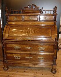 Zylinderbüro, Sekretär, Historismus, Nussbaum, Paketerie, 1890 , € 3400,00