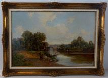 Robert Winchester Fraser, 1848-1906, Öl auf Leinwand, Landschaftsgemälde, € 950,00