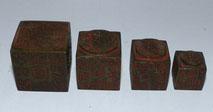 Antike chinesische Stempel,Siegel, 4er Satz, ineinander verschachtelbar, Bronze , € 400,00