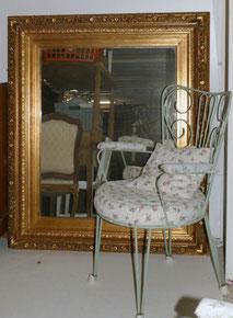 Großer, schwerer Stuck Spiegel, Historismus, Gold, 130,0 cm x 110,0 cm, € 650,00