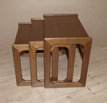 Danish Nesting Tables, Dreisatz-Tisch, Teak, Mid Century , € 320,00