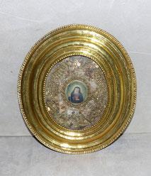Klosterarbeit, 19. Jahrhundert, Gold, Filigran, Schmuck, Messingrahmen, € 580,00