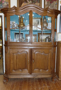Aachener Barockschrank, 1750, Glasschrank, Eiche, Vitrine altes Glas, € 5500,00