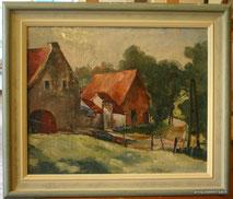 Ölbild, Impressionismus, Bauernhof, Eifel, Ardennen, € 650,00