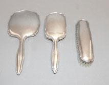 Handspiegel, Bürstenset, 800er Silber, Johann Beck, €220,00