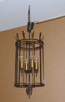 Deckenlampe, Eisen, geschmiedet, Burg Lichtenfels, 4-flammig, ca. 1930, Ø 33 cm, € 420,00