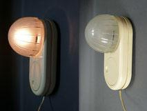 BAUHAUS Design Leuchte, Glas, Kunststoff, Dimmer, Tischlampe, Wandlampe , € 320,00