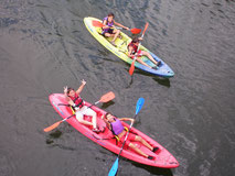 Kayak en el Centro de Aventura de Sobrón