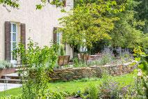 Garten an einer Stadtvilla