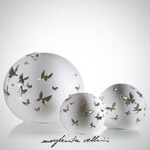 Sphere lamps  FARFALLE . Margherita Vellini Ceramics Made in Italy Home light design