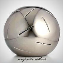 Lampada sfera da appoggio tagli RADI Margherita Vellini Ceramica Made in Italy Home Lighting Design