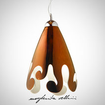 Lampada da sospensione BAROCCO Margherita Vellini Ceramica Made in Italy Home Lighting Design