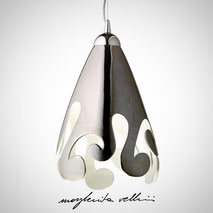 Hanging lamps BAROCCO Margherita Vellini Ceramics Made in Italy Home Lighting Design
