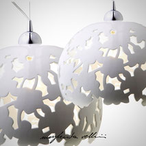 Hanging lamps PIZZO Margherita Vellini Ceramics Made in Italy Home Lighting Design