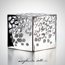 Cube lamp BLOB Margherita Vellini Ceramics Made in Italy Home Lighting design