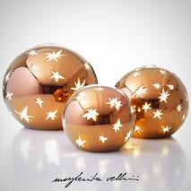Lampada sfera da appoggio MATISSE metallo prezioso Bronzo (oro rosso) 15%. Margherita Vellini Ceramica Made in Italy Home Lighting Design