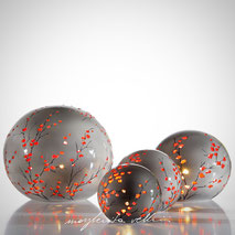 Sphere lamps RAMAGE DIPINTO Margherita Vellini Ceramics Made in Italy Home Lighting Design