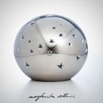 Sphere lamps STELLATO precious metal Platinum 15%. Margherita Vellini Ceramics Made in Italy Home Lighting Design