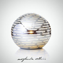 Sphere lamps ORIZZONTALI Margherita Vellini Ceramics Made in Italy Home Lighting Design