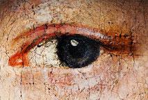 Krakeleen bei der Ölmalerei, Lasurmalerei