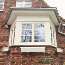 Erker, Fenster, Holzfenster, Weiß