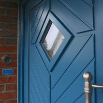 Haustür nach Maß, Holz, Blau, HBI