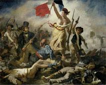 Eugène Delacroix, La Liberté guidant le peuple, 1830. Source : Domaine Public, Wikipedia.