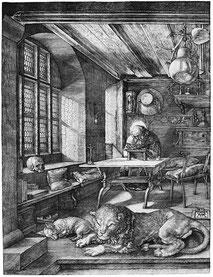 Albrecht Dürer, Saint Jérôme dans sa cellule, 1514.