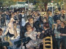 Auguste Renoir, Bal du moulin de la galette, 1876. Source : Domaine Public, Wikipedia.