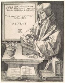Albrecht Dürer, Erasme de Rotterdam, 1526.