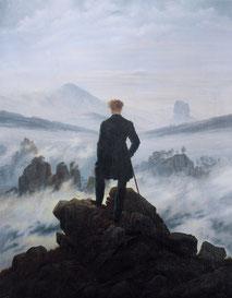 Caspar David Friedrich, Le voyageur contemplant une mer de nuages, 1818.