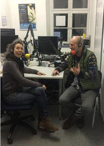 Jan Oechsner bei Radio Slubfort in Frankfurt/Oder