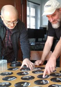Jan Oechsner und Ralf Glaser in der Filmwerkstatt Chemnitz