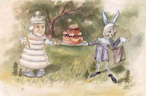 """Сюжет из сказки """"Алиса в стране Чудес""""."""