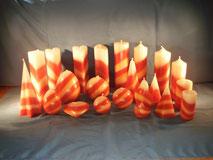 Kerzensatz Weiss Rot Violett