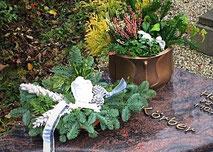 Pflanzschale Urnengrab Blumenschale