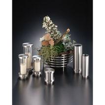 Edelstahl Laterne Vase Schale Grab