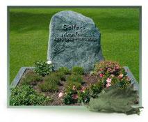 Grabstein Doppelgrab Serpentin Felsen