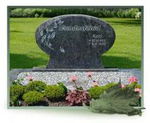 Grabstein Doppelgrab Zweig Ornament Bildhauer