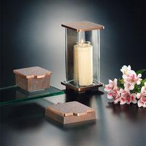 Grablampe Grablicht schlicht Bronze Alu Metall